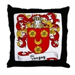 Tanguy Family Crest Throw Pillow