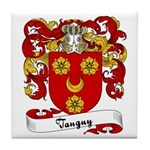 Tanguy Family Crest Tile Coaster