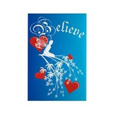 Believe Silhouette Fairy Rectangle Magnet