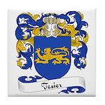Texier Family Crest Tile Coaster