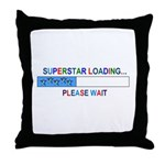 SUPERSTAR LOADING... Throw Pillow