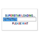 SUPERSTAR LOADING... Rectangle Sticker