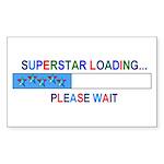 SUPERSTAR LOADING... Rectangle Sticker