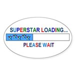 SUPERSTAR LOADING... Oval Sticker
