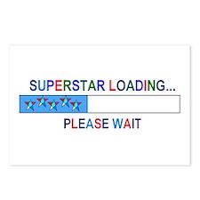 SUPERSTAR LOADING... Postcards (Package of 8)