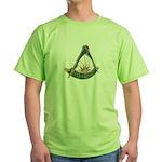 Past Master F&AM Green T-Shirt