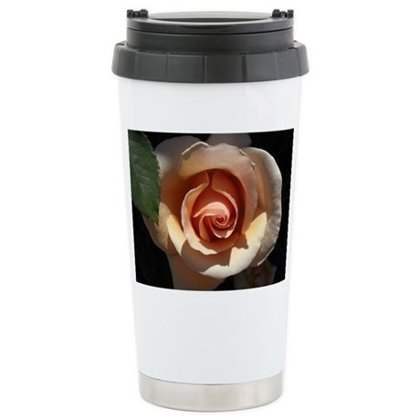 Peach Rose Ceramic Travel Mug