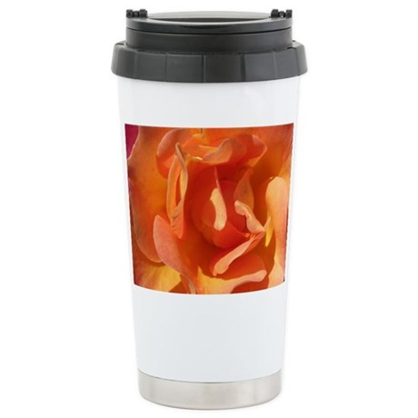 Rose Close Up Ceramic Travel Mug