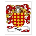 Turpin Family Crest Small Poster