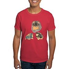 Blk. & Tan Pomeranian Collage T-Shirt
