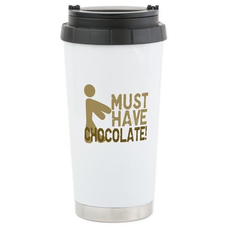 Must Have CHOCOLATE! Zombie Ceramic Travel Mug