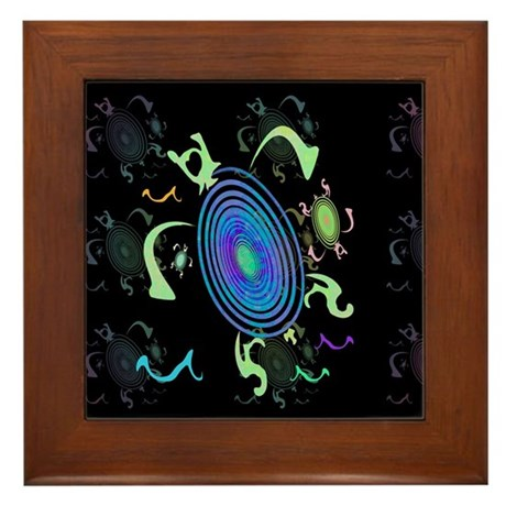 Spiral Turtles Framed Tile