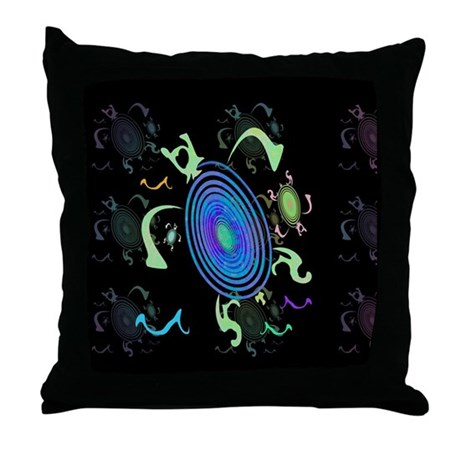 Spiral Turtles Throw Pillow