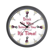 Time to Drink Wine Wall Clock