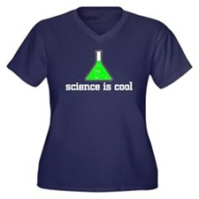Science is cool Women's Plus Size V-Neck Dark T-Sh