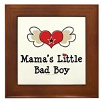 Mama's Little Bad Boy Framed Tile