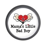 Mama's Little Bad Boy Wall Clock
