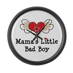 Mama's Little Bad Boy Large Wall Clock