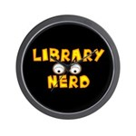Library Nerd Wall Clock