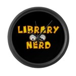 Library Nerd Large Wall Clock