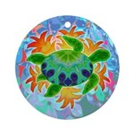 Flame Turtle Ornament (Round)
