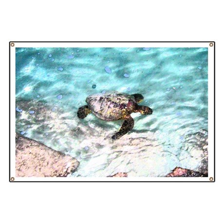 Swimming Sea Turtle Banner