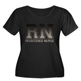 RN_grbl Women's Plus Size Scoop Neck Dark T-Shirt