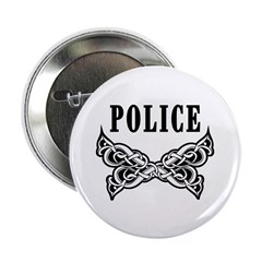 "Police Tattoo 2.25"" Button (10 pack)"