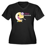 Writer Mama Women's Plus Size V-Neck Dark T-Shirt