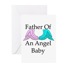 Father of an Angel Baby Greeting Card