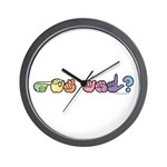 Got ASL? Pastel Wall Clock