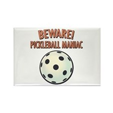 Beware! Pickleball Maniac Rectangle Magnet
