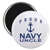 "Navy mom 2.25"" Round Magnet"