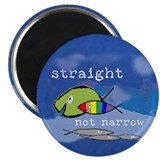 "Straight But Not Narrow 2.25"" Magnet (10 pack)"