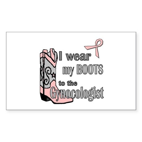Gynocolgist Stirrup Humor Rectangle Sticker