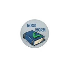 Book Worm Mini Button (10 pack)