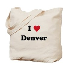I love Denver Tote Bag