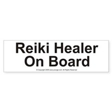 Reiki Healer on Board Bumper Bumper Sticker