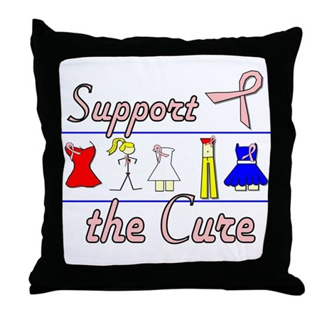 Breast Cancer Awareness Throw Pillow