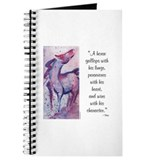 Horse Character with Saying Journal