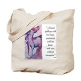 Horse Character with Saying Tote Bag