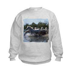 Horses w/ Proverb Kids Sweatshirt