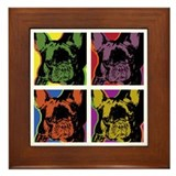 French bulldog Framed Tile