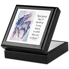 Horse Heaven Keepsake Box