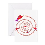Red Hat swirly Greeting Cards (Pk of 10)
