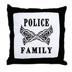Police Family Throw Pillow
