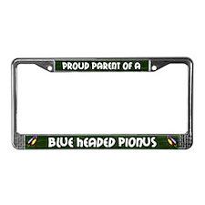 Proud Parent Blue Head Pionus License Plate Frame
