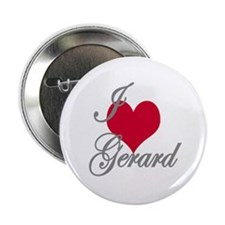 "I love (heart) Gerard 2.25"" Button"