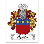 Agostini Family Crest Small Poster