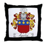 Agostini Family Crest Throw Pillow